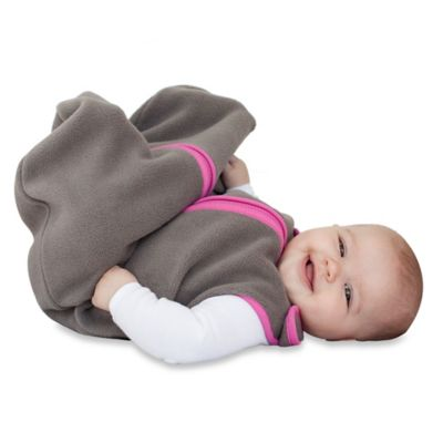 Baby Deedee® Small Sleep Nest® Fleece in Slate Grey/Pink