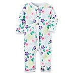 carter's® Size 9M Floral Footless Coverall in Purple/Green