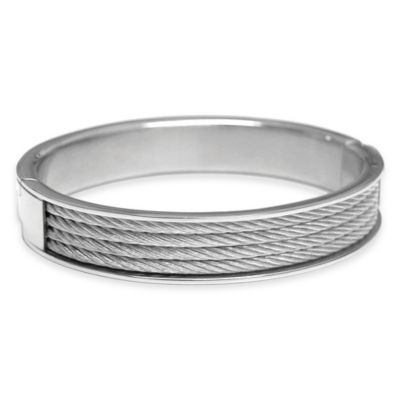 Charriol Stainless Steel Cable Size Large Unisex Forever Bangle