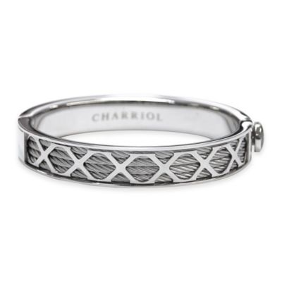 Charriol Stainless Steel Cable Size Large Unisex Forever X Bangle