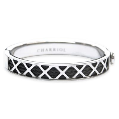 Charriol Black-Plated Stainless Steel Cable Size Medium Unisex Forever X Bangle