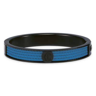 Charriol Black Stainless Steel Large Unisex Forever Cable Bangle in Blue