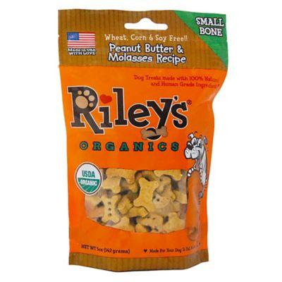 Riley's™ Organic Peanut Butter and Molasses Small Bone Dog Treats