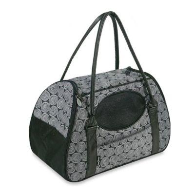 Carry-Me Deluxe Medium 2-Door Pet Carrier in Black Onyx