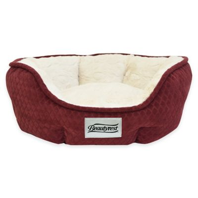 Beautyrest® Subtle Seat Diamond Small Dog Bed in Burgundy