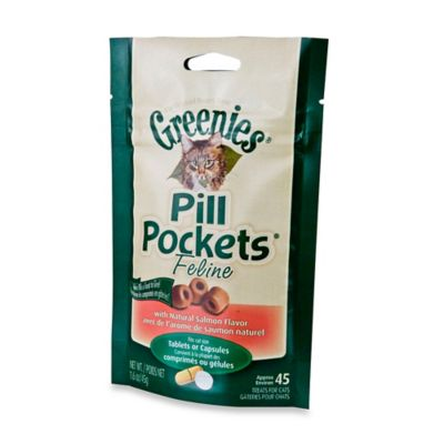 Greenies® Pill Pockets 45-Pack Tablet-or-Capsule-Size Salmon-Flavor Cat Treats