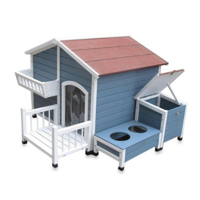 Garden Cottage Dog House in Blue