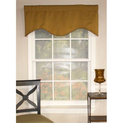 Chenille Dot Cornice Window Valance