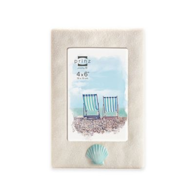 Prinz Coastal 4-Inch x 6-Inch Shell on Sand Resin Frame in Natural