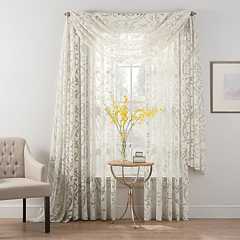 Smart sheer insulated burnout voile sheer window for Smart window shades