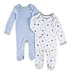 Sterling Baby Size 3M Airplane/Stripe Footies (2-Pack)