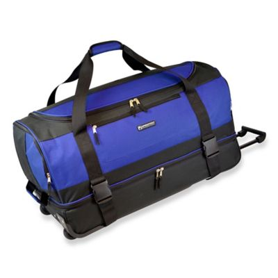 Traveler's Club Luggage Rolling Duffel in Blue