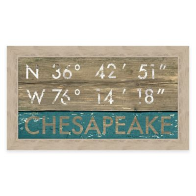 Framed Giclée Chesapeake Coordinates Print Wall Art