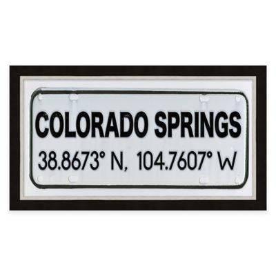 Framed Giclée Colorado Springs Coordinates Print Wall Art