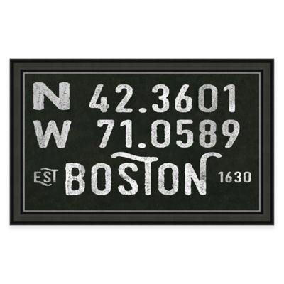 Framed Giclée Boston Coordinates Print Wall Art