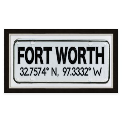 Framed Giclée Fort Worth Coordinates Print Wall Art