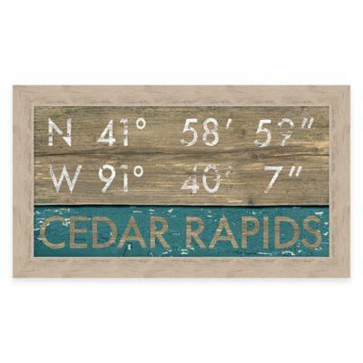 Framed Giclée Cedar Rapids Coordinates Print Wall Art