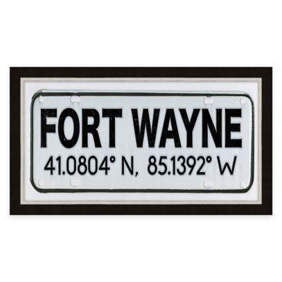 Framed Giclée Fort Wayne Coordinates Print Wall Art