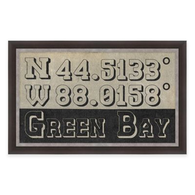 Framed Giclée Green Bay Coordinates Print Wall Art