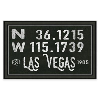 Framed Giclée Las Vegas Coordinates Print Wall Art