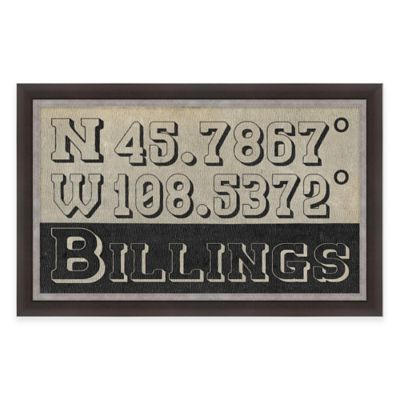 Framed Giclée Billings Coordinates Print Wall Art