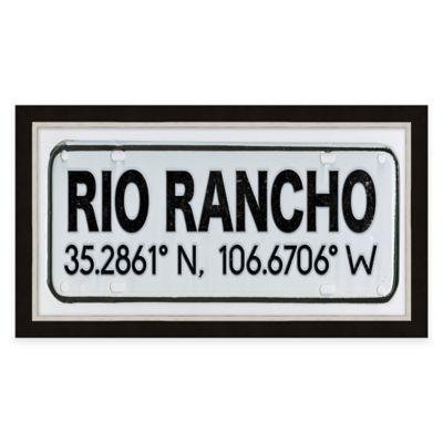 Framed Giclée Rio Rancho Coordinates Print Wall Art
