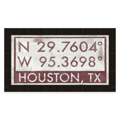 Framed Giclée Houston, TX Coordinates Print Wall Art