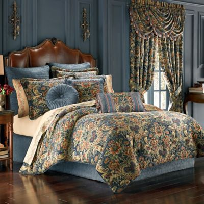 J. Queen New York™ Cassandra Queen Comforter Set in Blue