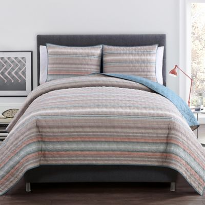 VCNY Dover King Quilt Set