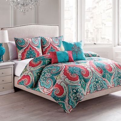 VCNY Casablanca 4-Piece Reversible Twin Comforter Set in Turquoise