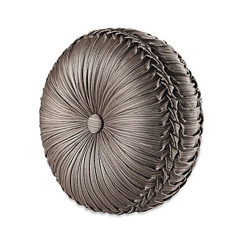 Buy J. Queen New York Stafford Tufted Round Throw Pillow in Mocha from Bed Bath & Beyond