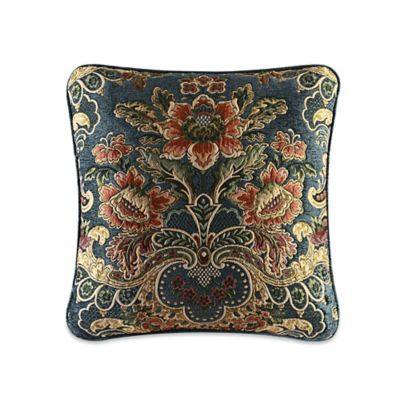 J. Queen New York™ Cassandra Floral Square Throw Pillow in Blue