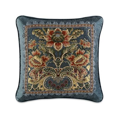 J. Queen New York™ Cassandra Embroidered Square Throw Pillow in Blue