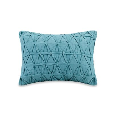 Echo Design™ Crete Geometric Oblong Throw Pillow in Teal