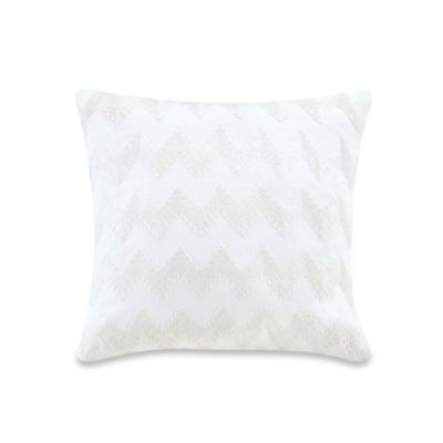 Echo Design™ Crete Zig Zag Square Throw Pillow in White