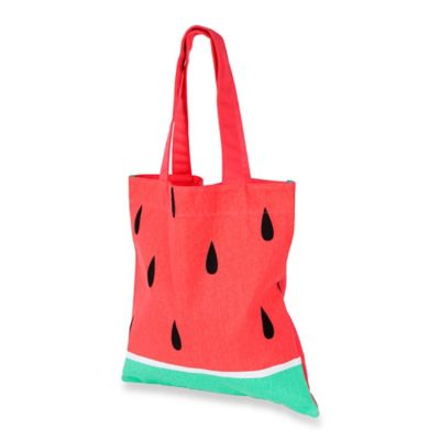 Sunnylife® Watermelon Print Cotton Canvas Tote Bag