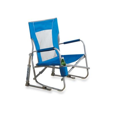 Blue Folding Aluminum Chair