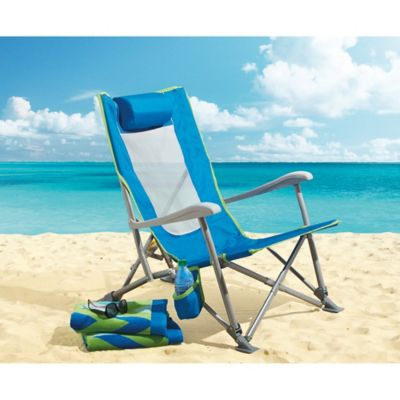 3-Position Sun Recliner in Blue