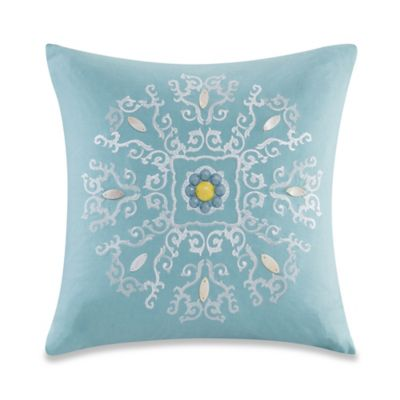 Echo Design™ Indira Square Throw Pillow in Aqua