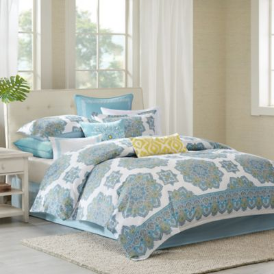 Echo Design™ Indira Reversible Full/Queen Duvet Cover Set in Aqua