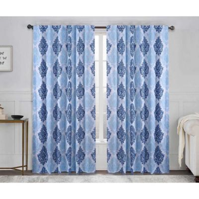 VCNY Legend 84-Inch Rod Pocket Window Curtain Panel in Taupe