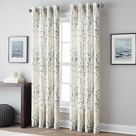 Buy Botanical 63 Inch Grommet Top Window Curtain Panel In