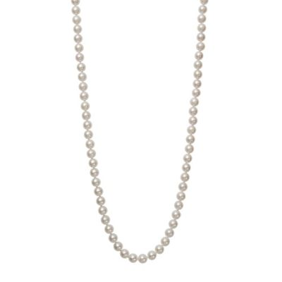 7.0-7.5mm Akoya Freshwater Cultured Pearl 18-Inch Strand Necklace with 18K White Gold Clasp