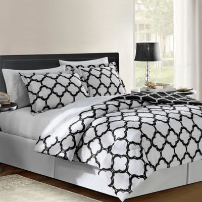 Gray Red Comforter Set