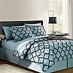 VCNY Galaxy 8-Piece Reversible King Comforter Set in Blue/Chocolate