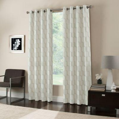 Gaudi 63-Inch Grommet Top Window Curtain Panel in Ivory
