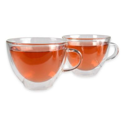 Artland® Harmony Double-Wall Teacup in Clear (Set of 2)
