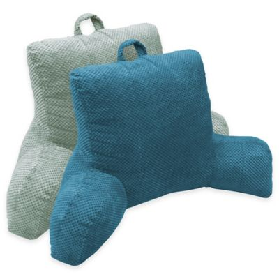 Hi Lo Plush Hamilton Bedrest Lounger in Mineral
