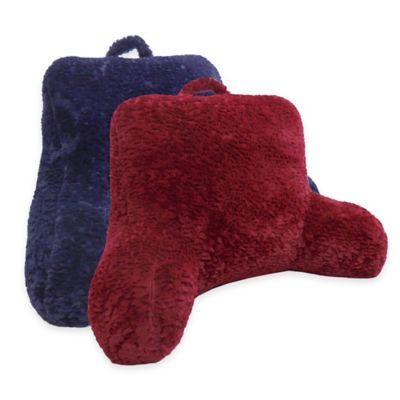 Whisper Cut Plush Backrest Pillow in Red