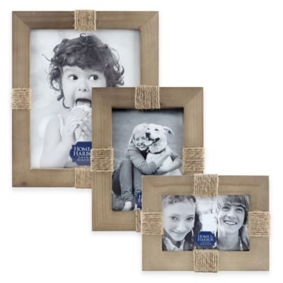 Home and Harbor 4-Inch x 6-Inch Wood Twine Picture Frame in Natural